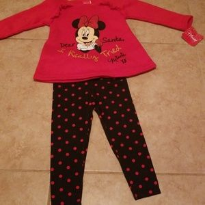 Disney Matching Sets - BNWT MINNIE OUTFIT & TY BEANIE!!